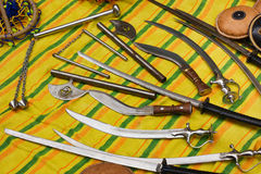 Sikh weapons Stock Photo
