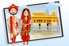 Sikh Wedding Couple Royalty Free Stock Images