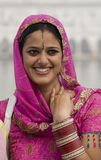 Sikh woman in Amritsar - India. A Sikh woman at the Golden Temple of Amritsar in the Punjab region of northern India Royalty Free Stock Photography