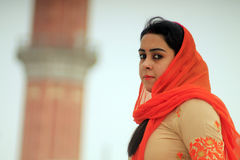 Sikh woman. In front of Golden Temple in Amritsar Royalty Free Stock Photos