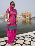 Sikh Woman - Golden Temple - Amritsar - India. A young Sikh woman in the temple complex of the Golden Temple of Amritsar (Harmandir Sahib) in the Punjab region Royalty Free Stock Photography