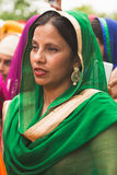 Sikh woman taking part in the Vaisakhi parade Stock Photography