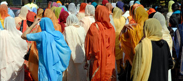 Sikh women. Sikh women gather to celebrations of the annual festiveful of vaisakhi Royalty Free Stock Photos