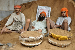 Sikh workers Stock Photo