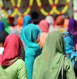 Sikh women with veil on the heads Stock Photo