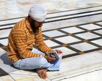 Sikheifriger anhänger stockfotografie