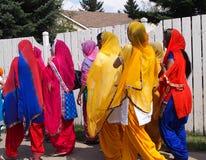 Sikhfrauen an Vaisakhi-Feier Lizenzfreie Stockfotografie