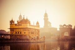 Sikhijskiego gurdwara Złota świątynia (Harmandir sahib). Amritsar, Pundżab, India Zdjęcia Stock