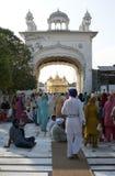Sikhs bij de Gouden Tempel in amristar Royalty-vrije Stock Afbeelding