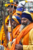 Sikhs at a celebration in New Delhi, India stock photography