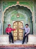Sikhs in de stadspaleis van Jaipur Stock Foto