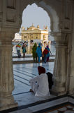 Sikhs at the Golden Temple in amristar Royalty Free Stock Image