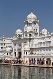 Sikhs and indian people visiting the Golden Temple in Amritsar, Punjab, India. Stock Image