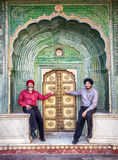 Sikhs in Jaipur city palace Stock Photo