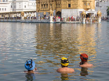 Sikhs men visiting the Golden Temple in Amritsar, Punjab, India. Stock Image