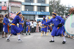 Sikhs in Nagar Keertan celebrations Stock Image