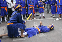 Sikhs in Nagar Keertan celebrations Royalty Free Stock Image