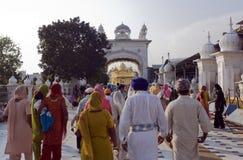 Sikhs no templo dourado em amristar Imagens de Stock