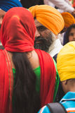 Sikhs taking part in the Vaisakhi parade Royalty Free Stock Photography