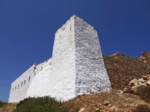 Sikinos Island Castle, Greece. Sikinos Island and main town castle Royalty Free Stock Photo