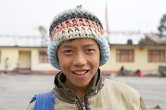 Sikkimese年轻人,锡金,印度 库存图片