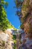 Siklawa blisko grodzkiego Nydri na Lefkada Zdjęcie Royalty Free