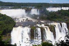 Siklawa Cataratas Del Iguazu na Iguazu rzece, Brazylia Obraz Stock
