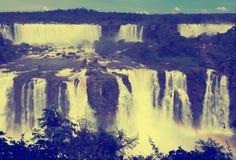 Siklawa Cataratas Del Iguazu na Iguazu rzece, Brazylia Obrazy Royalty Free