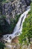 Siklawa, droga Siedem jezior, Argentyna Zdjęcie Stock