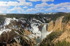 Siklawa dzwonił Niskich spadki i Uroczystego jar Yellowstone park narodowy, usa Zdjęcie Stock