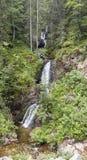 Siklawa i mała rzeka w Rhodopes górze Zdjęcia Stock