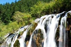 Siklawa Jiuzhai dolina Obrazy Royalty Free