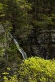 Siklawa - liźnięcie strumyka jar - Sweedler park - Ithaca, Nowy Jork obraz stock