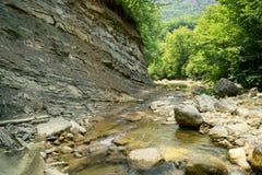 Siklawa na halnej rzece Crimea Obraz Stock
