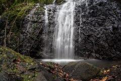 Siklawa na Tropikalnej wyspie Zdjęcia Royalty Free