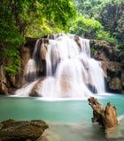 Siklawa przy Kanchanaburi, Tajlandia Fotografia Royalty Free