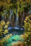 Siklawa przy latem jezior park narodowy plitvice siklawy Zdjęcia Royalty Free