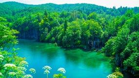 Siklawa przy Plitvice jeziorami 3 Zdjęcie Stock