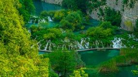 Siklawa przy Plitvice jeziorami 4 Obrazy Stock