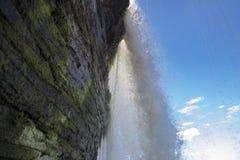 Siklawa, tęcza i Canaima laguna, Wenezuela Zdjęcie Royalty Free