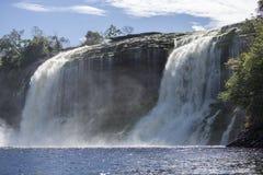Siklawa w Canaima lagunie, Wenezuela Obraz Royalty Free