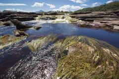 Siklawa w Canaima lagunie, Wenezuela Fotografia Stock