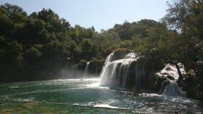 Siklawa w Croatia, park narodowy Krka obrazy royalty free