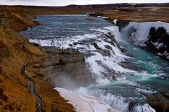 Siklawa w Iceland Obraz Royalty Free