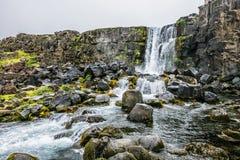 Siklawa w Iceland Fotografia Stock