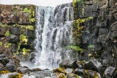 Siklawa w Iceland Fotografia Royalty Free