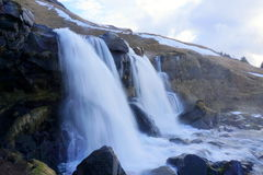Siklawa w Iceland Obrazy Royalty Free