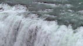 Siklawa w Iceland zbiory wideo