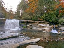 Siklawa w jesieni Fotografia Royalty Free