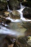 Siklawa w jeziorze Zdjęcie Stock